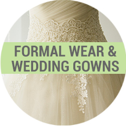 Formal wear wedding gown dry cleaning