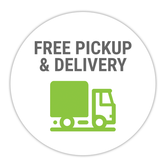 Free pick up and delivery